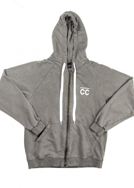 CC Zipped Hoodie stone washed grey