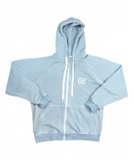 CC Zipped Hoodie Bright Blue white with Bright White logo (front/back) Hoodies