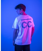 Bright Blue CC T-shirt white (front/back) T-shirts