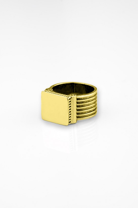 Acropolis Gold Plated Rings