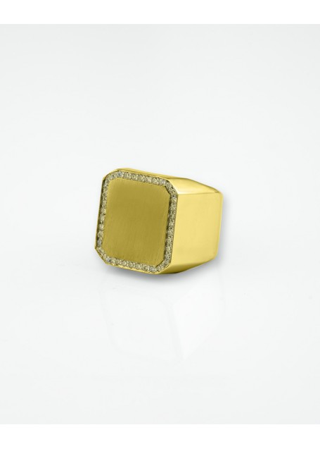 Big Ring Super Bowl Gold Plated