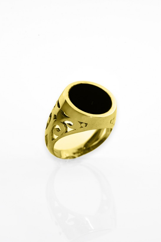 Kenzo ONYX Gold Rings