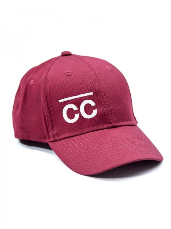 Bordeaux Hat with white CC logo