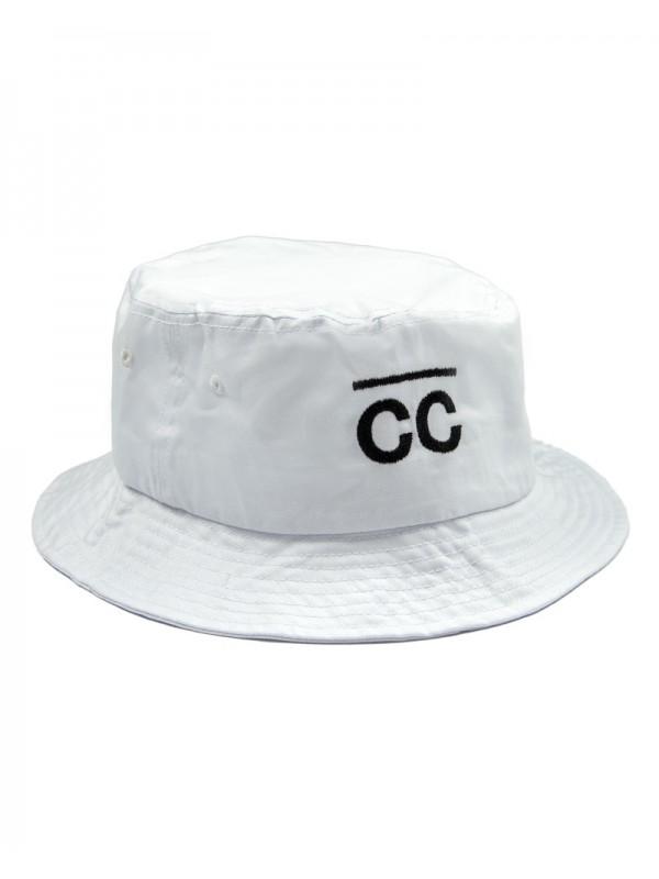 Bucket Hat White with CC logo