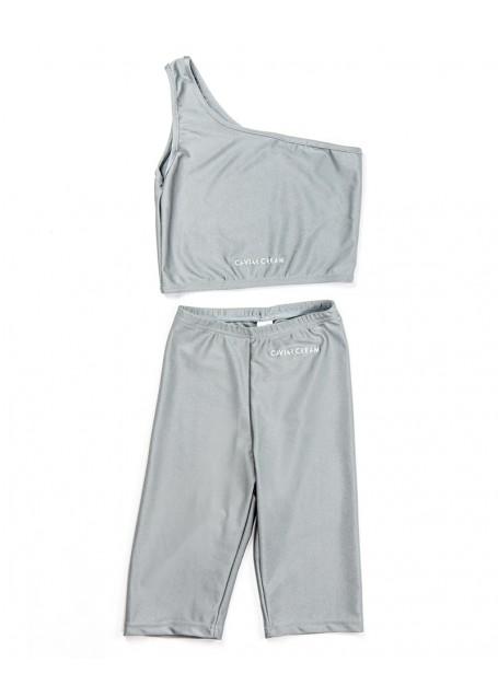 Set activewear caviar cream grey